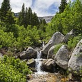 Another one of the waterfalls along the trail. - Silver Lake Trail