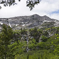 Open views of the Pfeifferhorn (11,325 feet) from the Silver Lake Trail.- Silver Lake Trail