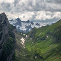 From the Geological Trail along the ridge there are fantastic views, including Santis in the distance.- Alpstein Geological Path
