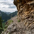 The Ridge Trail has some exposed and narrow sections.- Alpstein Geological Path