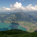 The view from the summit, looking across the Zugersee at Wildspitz.- Rigi Kulm to Küssnacht