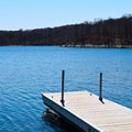 Dock at the boat ramp.- Beers Lake