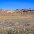 Views along the adjacent mountains on the Lovelock Cave Scenic Byway.- Lovelock Cave