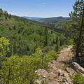 Looking back down the main climb. - Shingle Creek Trail