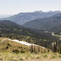 Looking down the Wolf Creek drainage.- Lobo Pass Trail + Continental Divide Trail