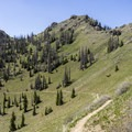 The trail passes just below the  ridge, which forms the Continental Divide proper.- Lobo Pass Trail + Continental Divide Trail