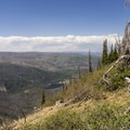 Great views from the Continental  Divide Trail.- Lobo Pass Trail + Continental Divide Trail