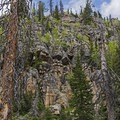 Beautiful rock formations along the last third of the hike. - Island Lake Hike