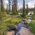 The Uinta Mountains are filled with beautiful scenery.- Clyde Lake Trail