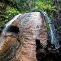 Golden Falls upper cascade.- Berry Creek Falls Loop via Big Basin Headquarters