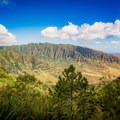 The final view from the summit is of Makua Valley on the west coast. - Kealia Trail