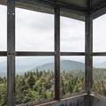 Reaching the cabin atop the fire tower.- Snowy Mountain Fire Tower