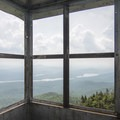 Looking to the south from the fire tower cabin.- Snowy Mountain Fire Tower