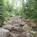 Some constructed rock stairs to help you on your way.- Blue Mountain Fire Tower