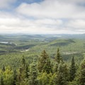 The view to the southwest.- Owl's Head Fire Tower