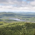 Mountain views from the fire tower.- Owl's Head Fire Tower