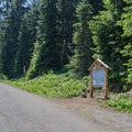 Parking area and trailhead for Horsepasture Mountain Trail. - Horsepasture Mountain Trail