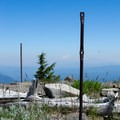 Remains from the old lookout tower at the summit of Horsepasture Mountain. - Horsepasture Mountain Trail