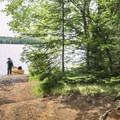 Disembarking at Floodwood Pond.- Rollins Pond Loop