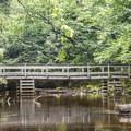 A bridge over Fish Creek.- Rollins Pond Loop