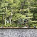 Campers at Rollins Pond Campground.- Rollins Pond Loop