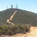 The last segment of the trail is the steepest.- Glider Port Trail to Black Mountain
