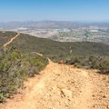 Looking back down at the trail.- Glider Port Trail to Black Mountain