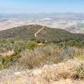 View to the north from the summit.- Glider Port Trail to Black Mountain