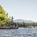 Many private boat docks lead into the flow.- Deer River Flow