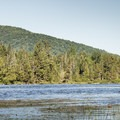 Kayaking with Furnace Mountain to the northwest.- Deer River Flow