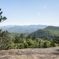 A viewpoint to the south along the way.- Poke-O-Moonshine Fire Tower