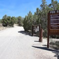 Self-pay station and rules are posted at the entrance to the campground.- Lake View Campground