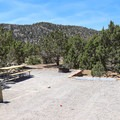 Sites have a sizeable parking area to accommodate trailers and medium-sized RVs.- Lake View Campground
