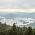 Blue Mountain Lake to the south.- Blue Mountain Fire Tower