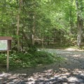 Registration box at the end of Crane Pond Road.- Pharoah Mountain