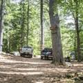 Parking area for four-wheel drive vehicles near Crane Pond.- Pharoah Mountain