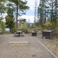 Typical campsite at Willow Creek Campground.- Willow Creek Campground