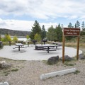 Group site at Willow Creek Campground.- Willow Creek Campground