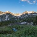 Morning light on Jasper Peak and Mount Neva.- South Arapaho Peak