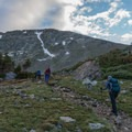 On the way toward the switchbacks at 4th of July Mine.- South Arapaho Peak