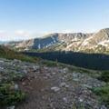 Looking back toward Diamond Lake.- South Arapaho Peak