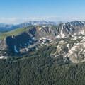 Looking south toward Mount Evans.- South Arapaho Peak