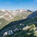 Jasper Peak, Mount Neva, and Arapaho Pass to the west.- South Arapaho Peak