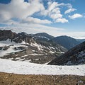 Looking out onto Arapaho Glacier.- South Arapaho Peak