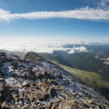 Rare cloud inversion to the east.- South Arapaho Peak
