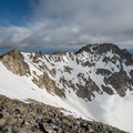 The Class 4 ridge connecting to North Arapaho Peak.- South Arapaho Peak