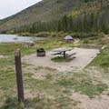 Walk-in campsite at Arapaho Bay: Roaring Fork Campground.- Arapaho Bay: Roaring Fork Campground