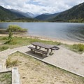 Typical campsite at Arapaho Bay: Roaring Fork Campground.- Arapaho Bay: Roaring Fork Campground