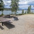 Double campsite at Sunset Point Campground.- Sunset Point Campground