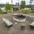 Fire ring at Cutthroat Group Campground.- Cutthroat Group Campground